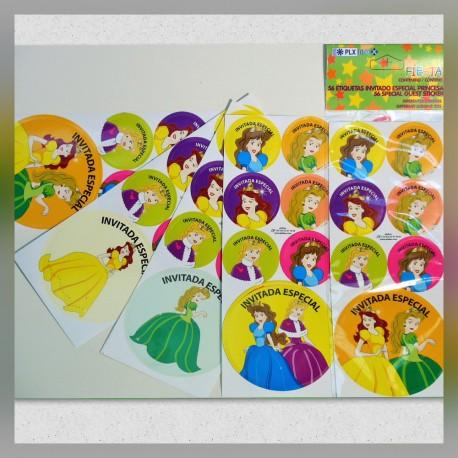 Stickers Invitada Especial Princesa Fiesta