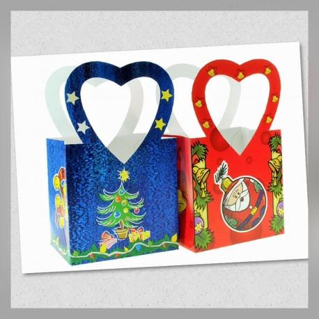 Bolsa c/asa Corazón Grande Navidad