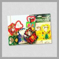 Bag with Handle Small Heart Christmas