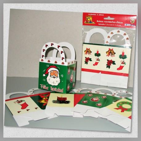 Bolsa c/asa Navidad Chica 6s