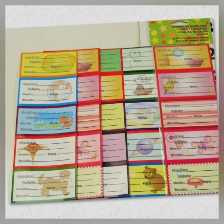 Etiquetas Escolares para Cuaderno