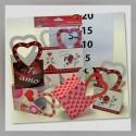 Bolsa c/asa Corazón San Valentin Mediano 4s