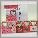 Bolsa c/asa Corazón San Valentin Chica 6s