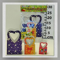 Bag with handle Various sizes Heart T-O