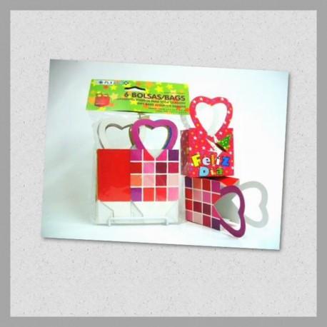 Bolsa c/asa Corazón Chica T-O