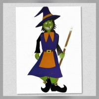 Figura Móvil Bruja Halloween